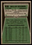 1975 Topps #95  Willie Brown  Back Thumbnail
