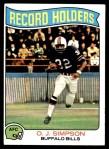 1975 Topps #355   -  O.J. Simpson Record Breaker Front Thumbnail