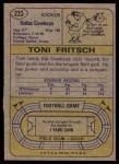 1974 Topps #223  Toni Fritsch  Back Thumbnail