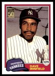 2001 Topps Traded #103 T  -  Dave Winfield 81  Front Thumbnail
