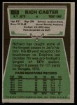 1975 Topps #515  Richard Caster  Back Thumbnail