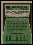1975 Topps #142  Jim Braxton  Back Thumbnail