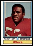 1974 Topps #404  Tommy Hart  Front Thumbnail