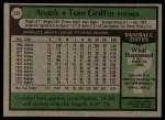 1979 Topps #291  Tom Griffin  Back Thumbnail