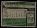 1979 Topps #337  John Montague  Back Thumbnail