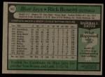 1979 Topps #542  Rick Bosetti  Back Thumbnail