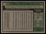 1979 Topps #446  Jim Lonborg  Back Thumbnail