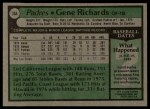 1979 Topps #364  Gene Richards  Back Thumbnail