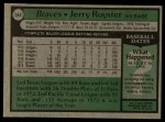1979 Topps #344  Jerry Royster  Back Thumbnail