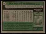 1979 Topps #182  Tim Johnson  Back Thumbnail