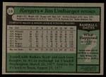 1979 Topps #518  Jim Umbarger  Back Thumbnail