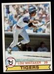 1979 Topps #123  Lou Whitaker  Front Thumbnail