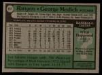1979 Topps #657  Doc Medich  Back Thumbnail