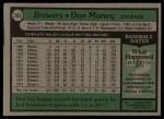1979 Topps #265  Don Money  Back Thumbnail