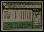 1979 Topps #504  Larry McWilliams  Back Thumbnail