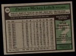 1979 Topps #164  Mickey Lolich  Back Thumbnail
