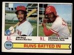 1979 Topps #3   -  Geroge Foster / Jim Rice RBI Leaders   Front Thumbnail