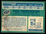 1976 O-Pee-Chee NHL #236  Red Berenson  Back Thumbnail