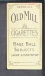 1910 T210-3 Old Mill Texas League  Slaven  Back Thumbnail