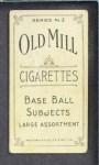 1910 T210-3 Old Mill Texas League  Firestine  Back Thumbnail