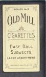1910 T210-3 Old Mill Texas League  Davis  Back Thumbnail