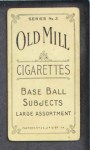 1910 T210-3 Old Mill Texas League  Robertson  Back Thumbnail