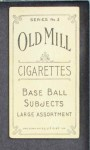 1910 T210-3 Old Mill Texas League  Howell  Back Thumbnail