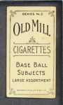 1910 T210-3 Old Mill Texas League  Onslow  Back Thumbnail