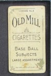 1910 T210-3 Old Mill Texas League  Meagher  Back Thumbnail