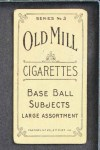 1910 T210-3 Old Mill Texas League  Weeks  Back Thumbnail