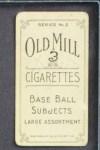 1910 T210-3 Old Mill Texas League  Barenkemp  Back Thumbnail