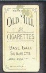 1910 T210-3 Old Mill Texas League  Woodburn  Back Thumbnail
