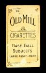 1910 T210-3 Old Mill Texas League  Spangler  Back Thumbnail