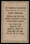 1952 Berk Ross  Clint Hartung  Back Thumbnail