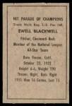 1952 Berk Ross  Ewell Blackwell  Back Thumbnail