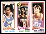 1980 Topps   -  Alex English / Marques Johnson / Jeff Judkins 75 / 2 / 68 Front Thumbnail