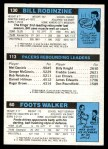 1980 Topps   -  Foots Walker / Mickey Johnson / Bill Robinzine 60 / 113 / 130 Back Thumbnail