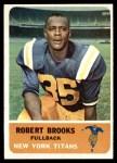 1962 Fleer #56  Robert Brooks  Front Thumbnail
