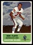 1962 Fleer #54  Don Floyd  Front Thumbnail