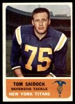 1962 Fleer #66  Tom Saidock  Front Thumbnail