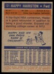 1972 Topps #121  Happy Hairston   Back Thumbnail