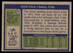 1972 Topps #141  Rick Volk  Back Thumbnail