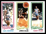 1980 Topps   -  Earl Monroe / James Silas / Terry Tyler 170 / 206 / 91 Front Thumbnail