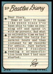 1964 Topps Beatles Diary #51 A Ringo Starr  Back Thumbnail