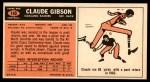 1965 Topps #140  Claude Gibson  Back Thumbnail