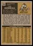 1971 Topps #242  Earl Morrall  Back Thumbnail