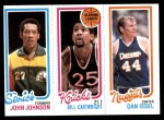 1980 Topps   -  John Johnson / Bill Cartwright / Dan Issel 230 / 163 / 76 Front Thumbnail