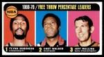 1970 Topps #4   -  Flynn Robinson / Chet Walker / Jeff Mullins Free Throw Percentage Leaders Front Thumbnail