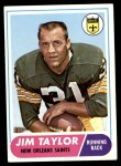 1968 Topps #160  Jim Taylor  Front Thumbnail