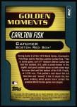 2001 Topps #791  Carlton Fisk  Back Thumbnail